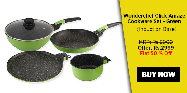 Wonderchef Click Amaze Cookware Set - Green (Induction Base)