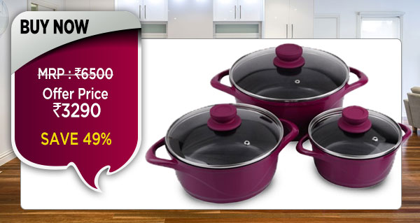 Wonderchef Ceramide Casserole Set of 6Pcs - Pink