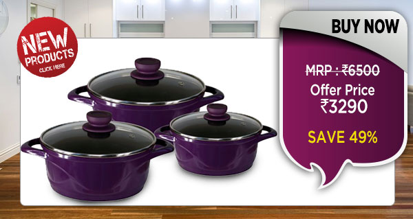 Wonderchef Ceramide Casserole Set of 6Pcs - Purple