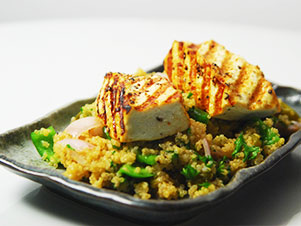 Warm Quinoa Salad with Grilled Paneer