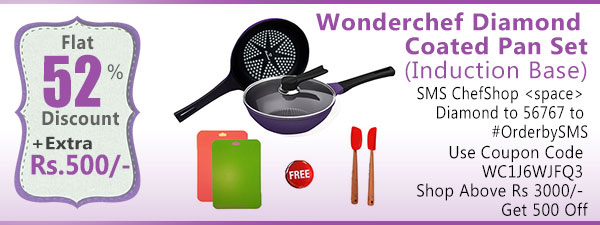 Wonderchef Diamond Coated Pan Set