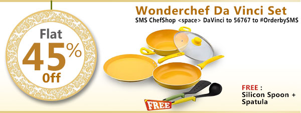 Wonderchef Da Vinci Set - Freebie :  Silicon Spoon + spatula