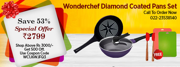 Wonderchef Diamond Coated Pans Set