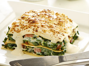 Spinach and Mozzarella Lasagne