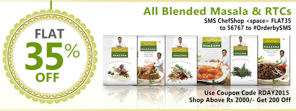 Get Flat 35% Off On All Blended Masala & RTCs