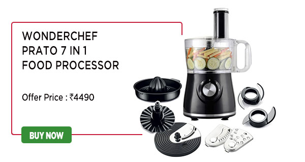 Wonderchef Prato 7 in 1 Food Processor