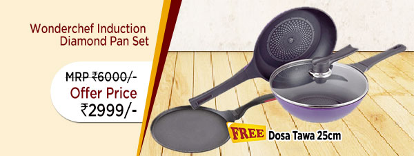 Wonderchef Induction Diamond Pan Set