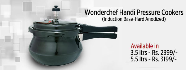 Wonderchef Handi Pressure Cookers (Induction Base-Hard Anodized)