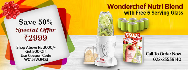 Wonderchef Nutri Blend with Free 6 Serving Glass