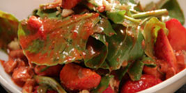 Palak Aur Strawberry Salad