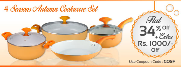 Wonderchef 4 Seasons Autumn Cookware Set