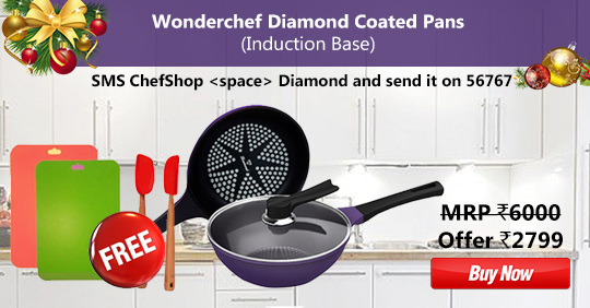 Wonderchef Diamond Coated Pans (Induction Base)