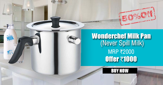 Wonderchef Milk Pan (Never Spill Milk) 50% Off