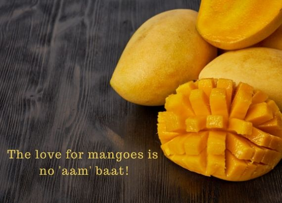 The love for mangoes is  no aam baat