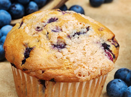 Why do blueberries in muffins turn green after bak