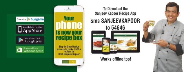 Download the Sanjeev Kapoor App Now