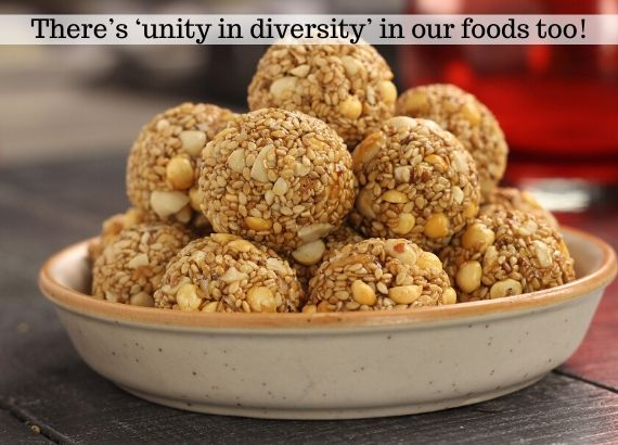 Theres unity in diversity in our foods too