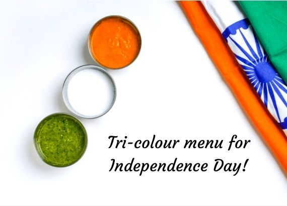 Tri colour menu for Independence Day