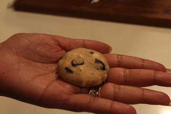 Eggless White Chocolate Chips and Cranberry Cookie