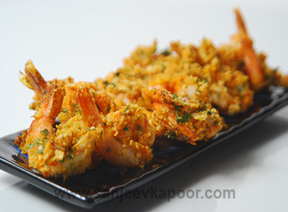 Air Fried Crumbed Prawns