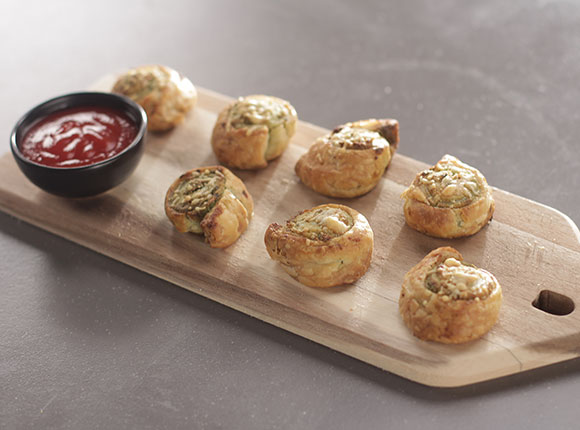 Almond Pesto Puffs