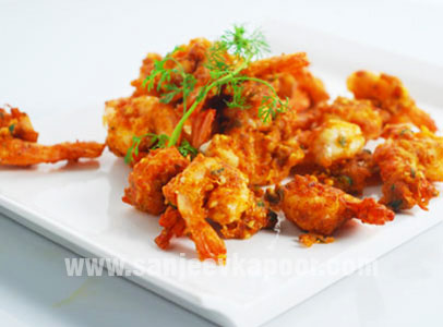 Almond Coated Prawns
