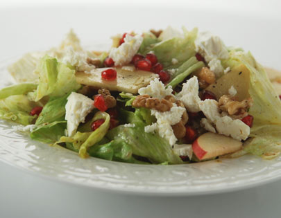 Apple, Walnut And Pomegranate Salad