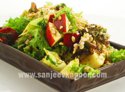 Apple Barley Pumpkin Seeds Salad