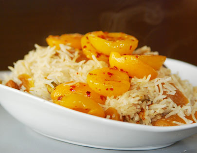How to make Apricot Rice With Nuts, recipe by MasterChef Sanjeev ...