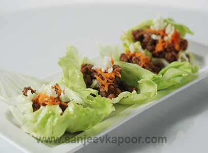 Asian Lettuce Wrap with Chicken
