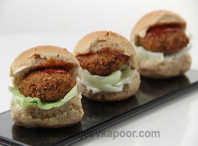 How to make baby falafel burgers recipe by masterchef sanjeev kapoor baby falafel burgers forumfinder Images
