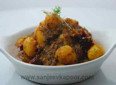 How to make baby potatoes in curry leaf curry recipe by masterchef baby potatoes in curry leaf curry forumfinder Gallery