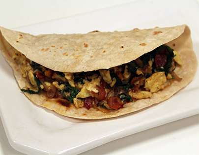 Bacon Spinach and Egg Wrap