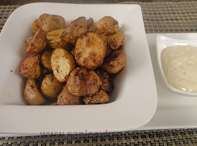 Baked Baby Potatoes with Lime Mayonnaise