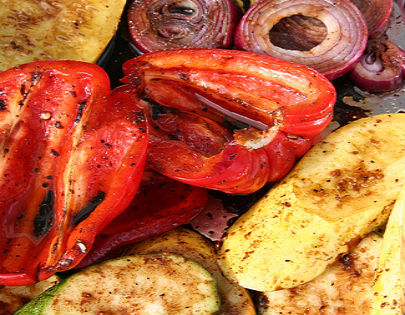 Balsamic and Spice Grilled Summer Vegetables