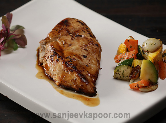 Barbecue Chicken with Veggies