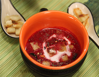 Beetroot, Apple and Coconut Soup