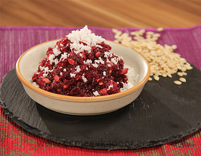 Beetroot and Apple Halwa