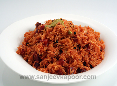 Beetroot And Mustard Pulao
