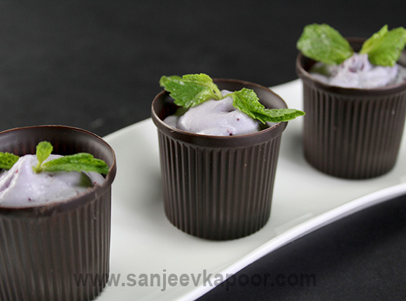Blueberry Mousse Cups