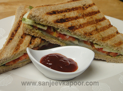 How To Make Bombay Sandwich Recipe By Masterchef Sanjeev Kapoor