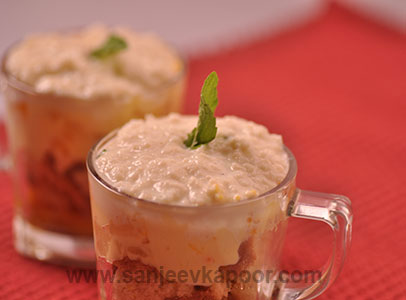 Boondi Trifle Custard