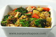 Broccoli, Aloo And Tofu Ki Sabzi