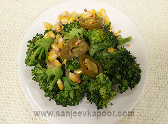 Broccoli Corn Jalapeno Stir Fry