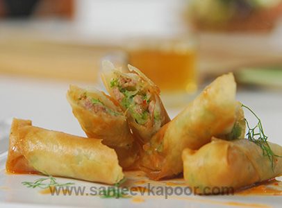 Broccoli Chicken Spring Rolls