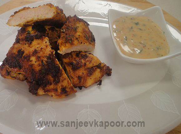 Butterfried Chicken with Curry Mayonnaise