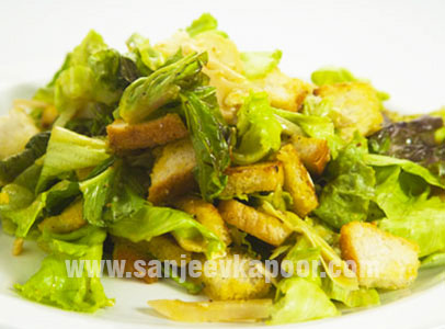 How To Make Caesar S Salad Recipe By Masterchef Sanjeev Kapoor