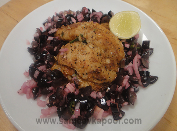 Cajun Spiced Fish with Grape Salsa