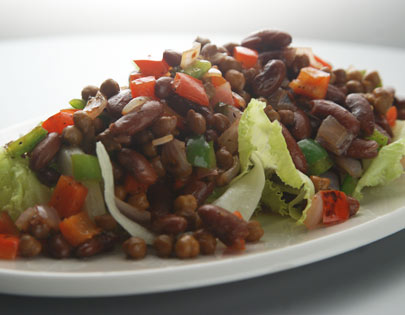 Chana and Rajma Salad in Tamarind Dressing