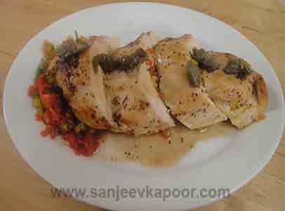 Cheese and Pepper Stuffed Chicken